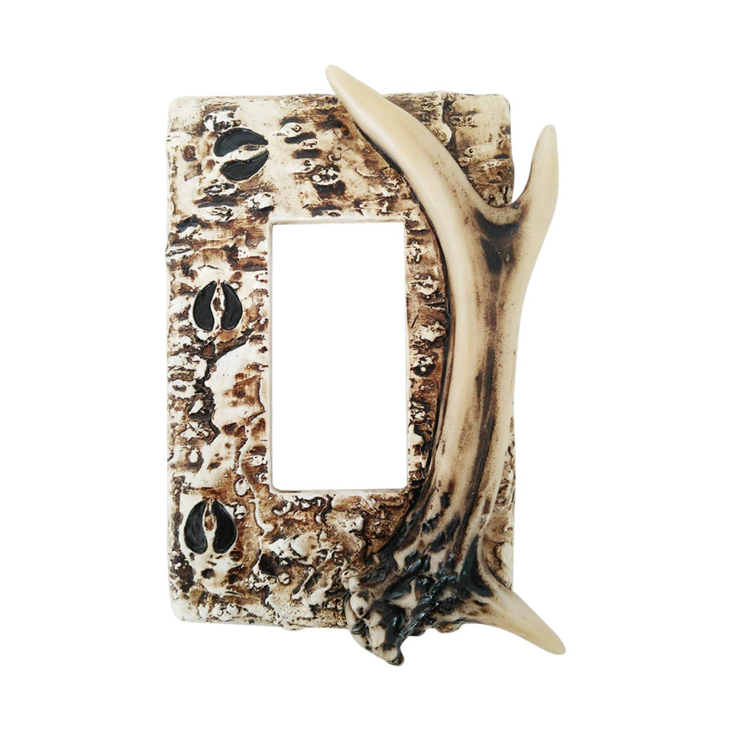 Pine Ridge Switch Plate Deer Antler