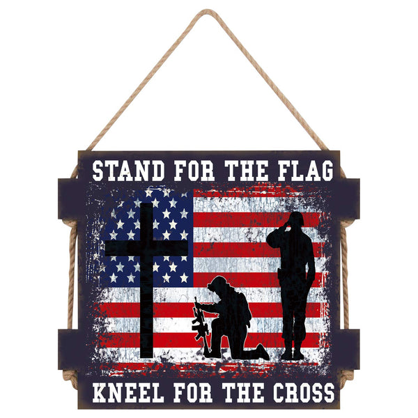 STAND FOR THE FLAG/ KNEEL FOR THE CROSS