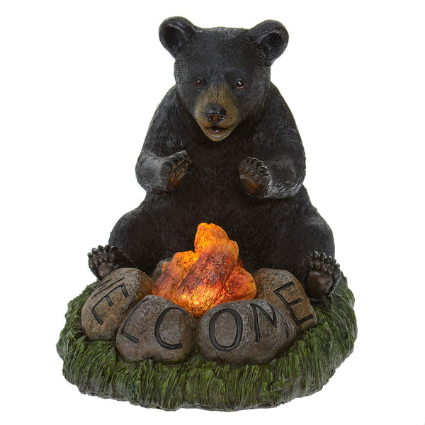 Welcome Bear Campfire Solar