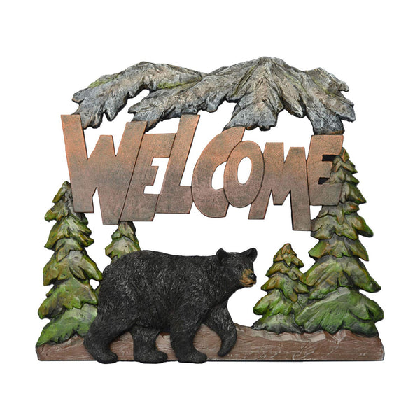 Bear Wall Art Welcome