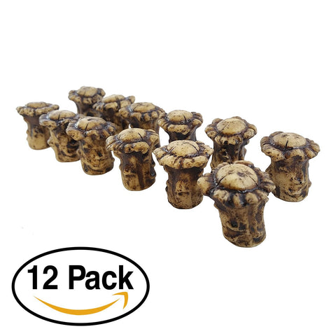 Antler Drawer / Cabinet Knobs (Pack of 12) Knob Pulls with Screws