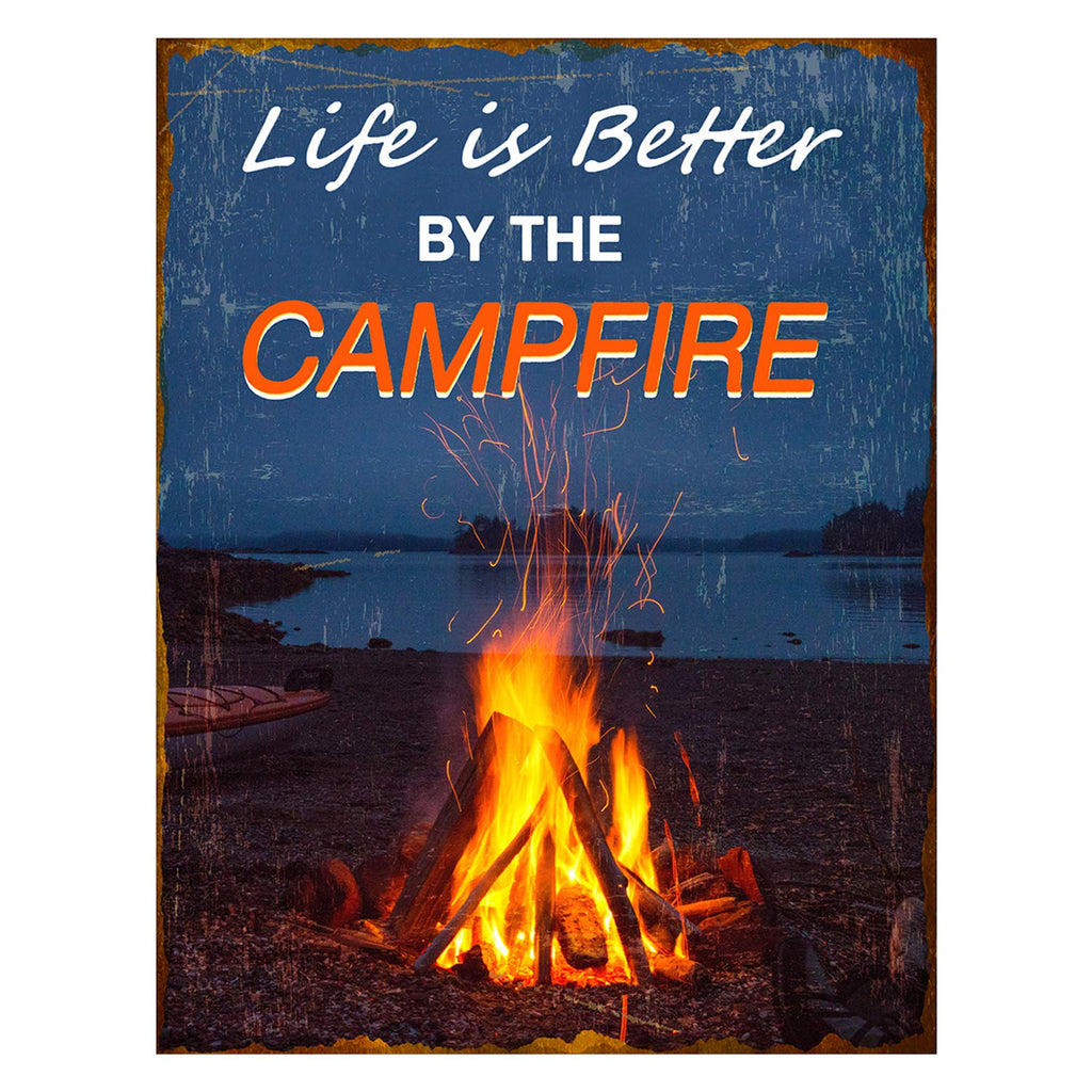Family Wall Hanging Sign Vertical Kitchen Signs Wall Decor Wall Mounted Hanging Sign Decorative Wall Signs Life Is Better By The Campfire