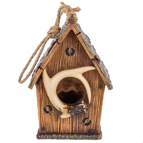 Deer Antler Birdhouse with Tracks