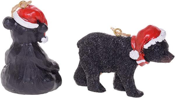 2 Assorted Christmas Bear Ornaments