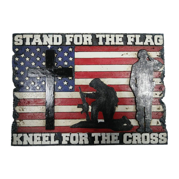 Pine Ridge Stand for the Flag Kneel for the Cross Wall Plaque