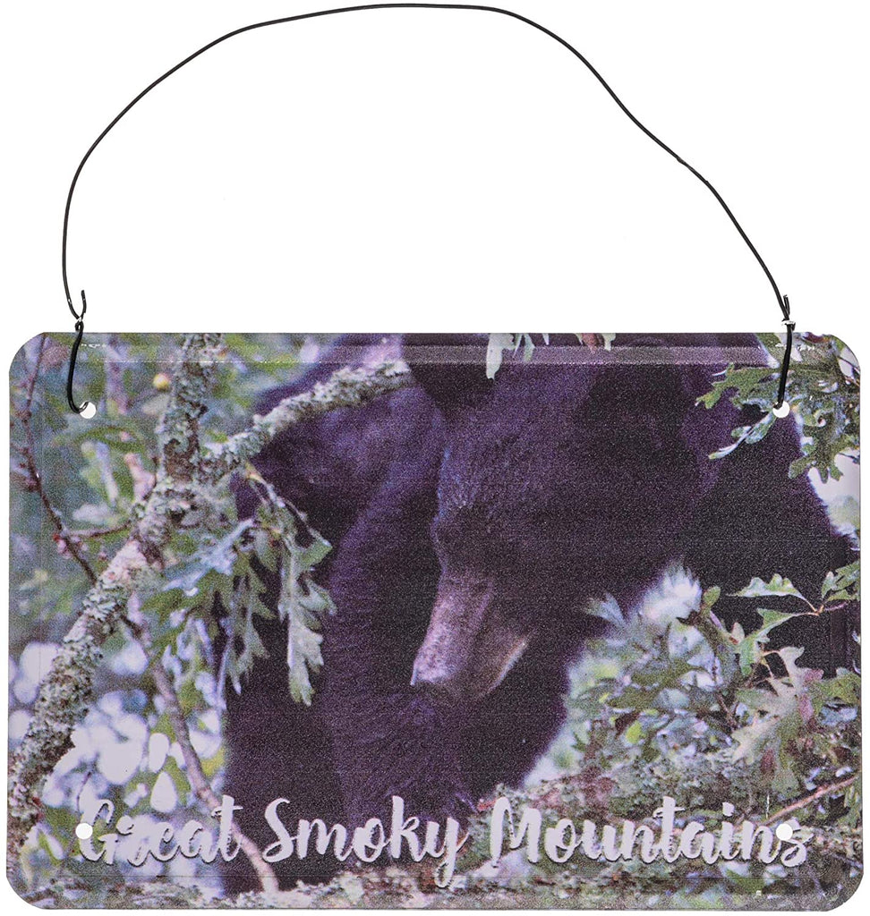 Great Smoky Mountains Black Bear Metal Post Card - Animal Postcards Wall Hanging Vintage Postcards USA - Greetings From Smokey The Bear Post Card