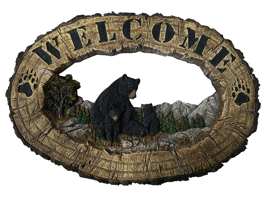 Pine Ridge Black Bear Family Wall Hanging Plaque Home Decor Inscribed