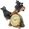 Black Bear Clocks for Home - Decorative Clock Wildlife Decorations for Home Rustic Cabin Clock - Bears Home Decor Animal Clock Hunting - Bear Wildlife Home Decorations Whimsical Clock