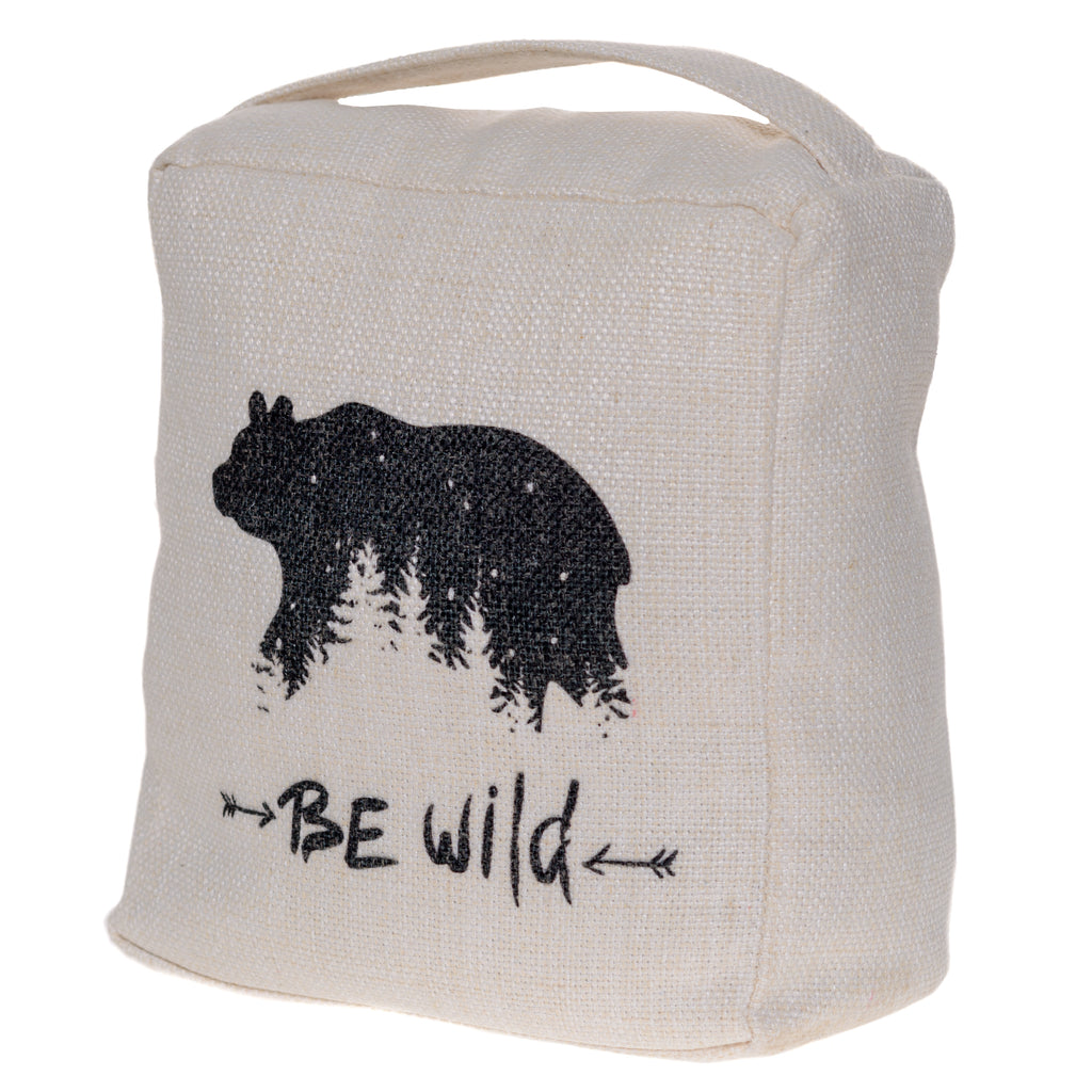 BE WILD BEAR DOOR STOP