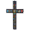 Inspirational Wall Cross with Words Love, Hope, Faith, and Family