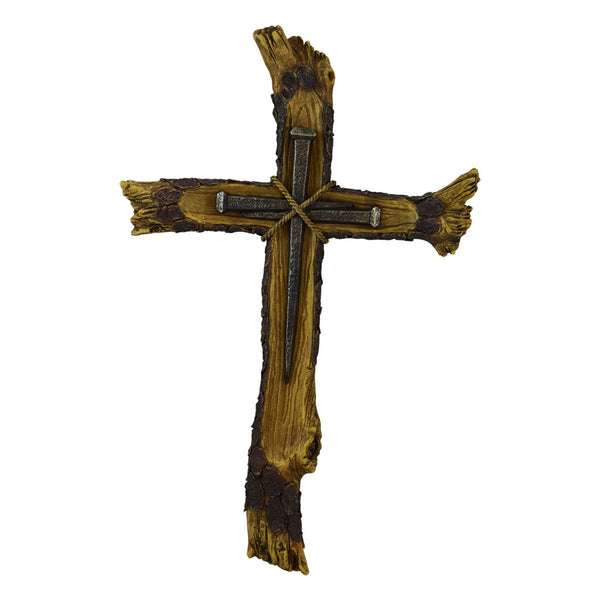 Pine Ridge Wooden Nail Decorative Wall Cross for Home Decor Display - Western Celtic Wall Hanging Crucifix Display for Catholic