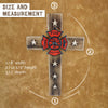 Magnificent Fireman Fire and Rescue Wood Look Wall Cross with Star Accents and Fire Shield