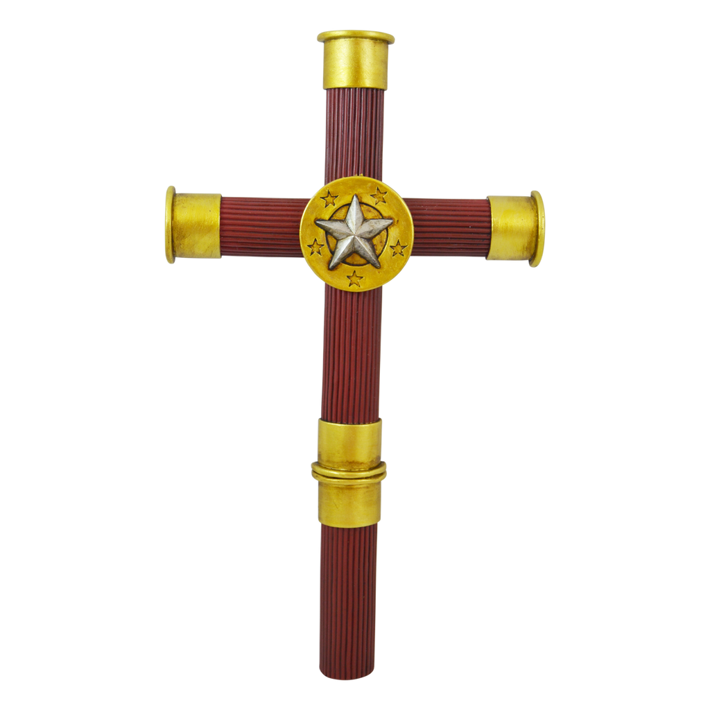 Shotgun Shell Buckshot Wall Hanging Cross