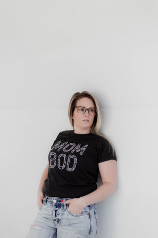Black on Black Mom Bod Ladies Tee | Lisa K Simmons