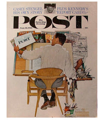 Norman Cherner Chair Saturday Post Rockwell Artist at Work