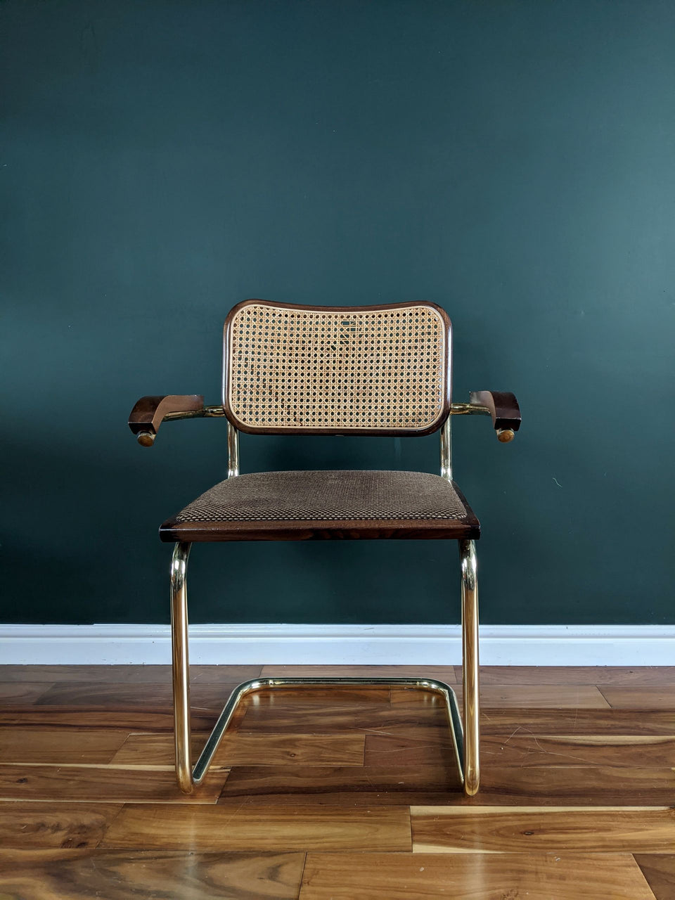 Rare Gold B32 Cesca Chair by Marcel Breuer Made in Italy
