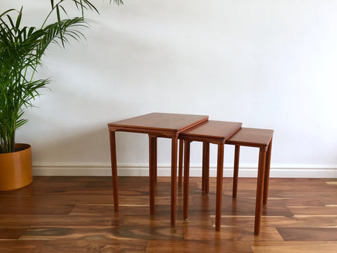 Mid Century Danish Teak Nesting Tables