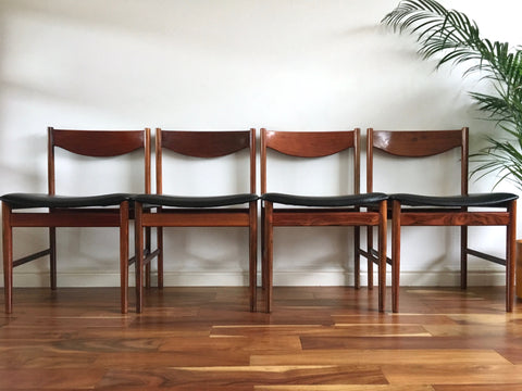 Mid Century G Plan E Gomme Rosewood Dining Chairs