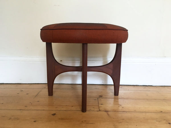 Mid Century G Plan Fresco Stool Orange