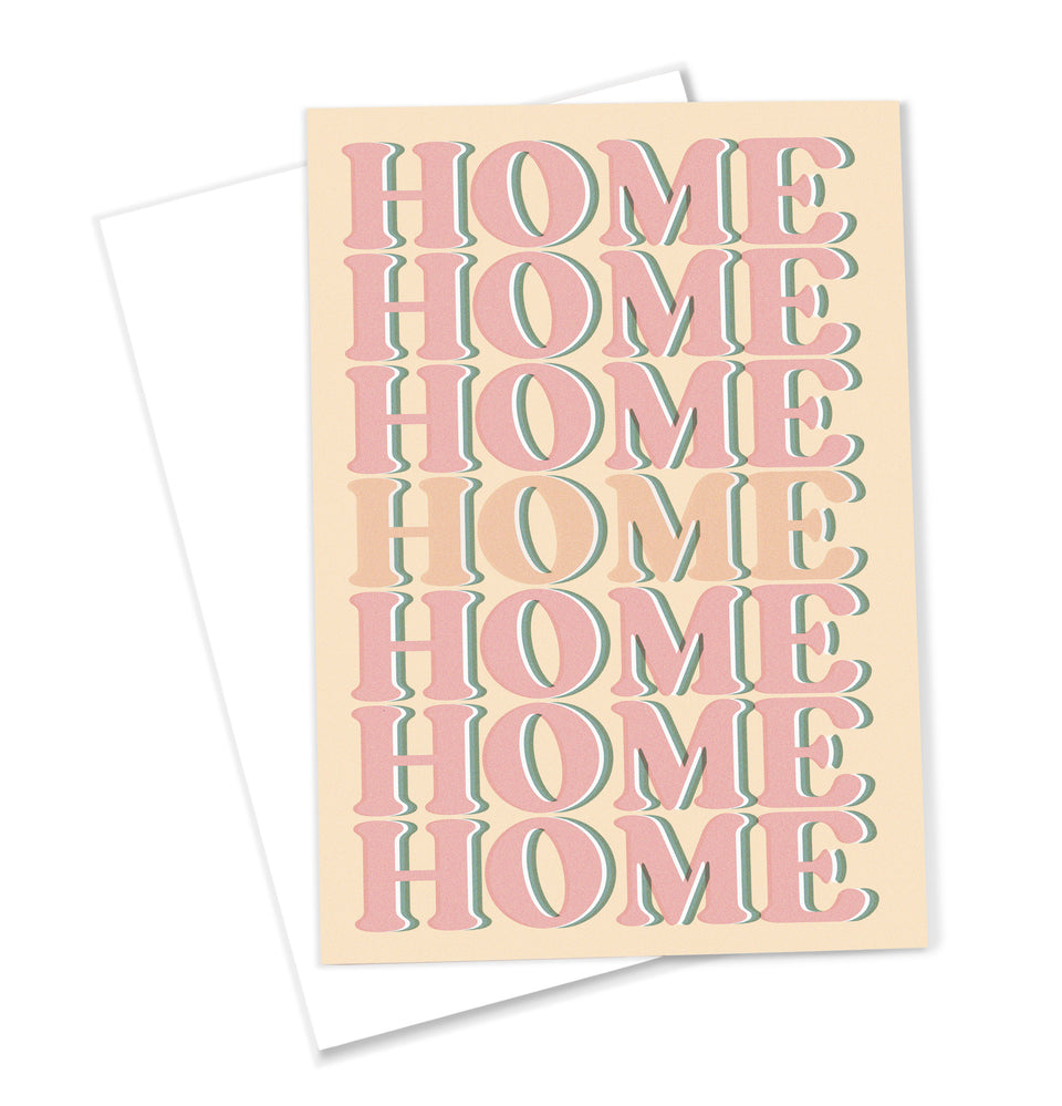 OMG Kitty 'Home' Greeting Card Retro Inspired Typography