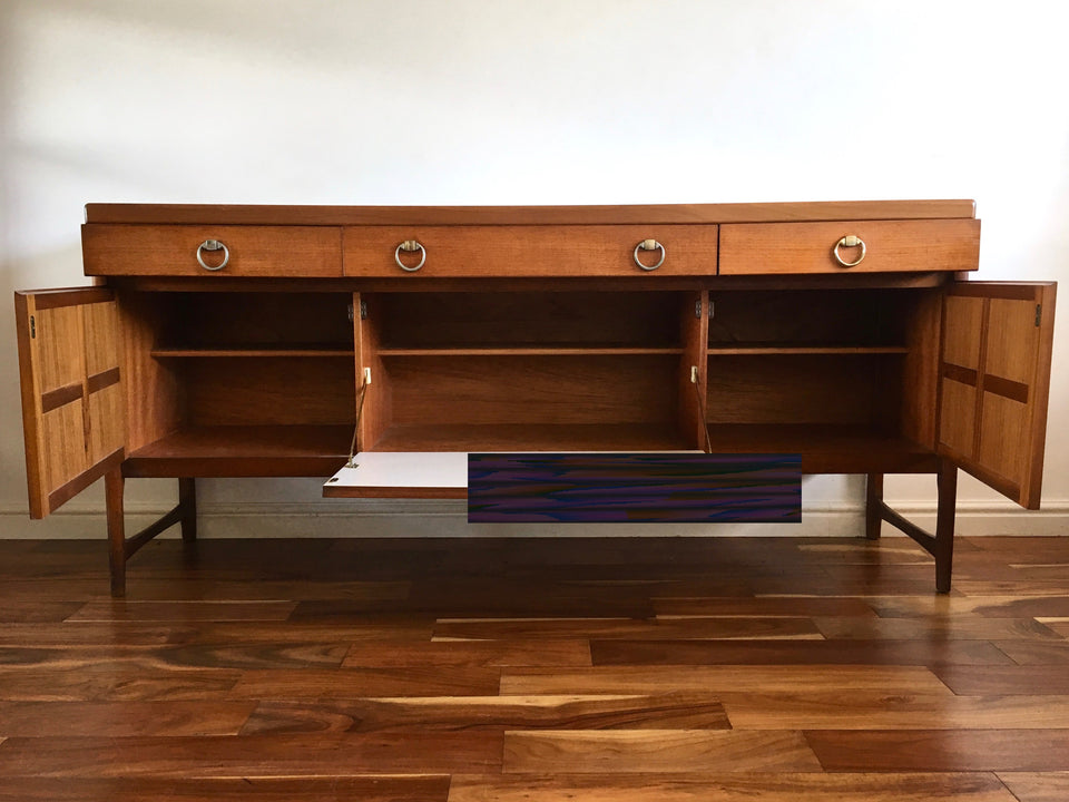 Mid Century Teak Sideboard 1970s by Nathan