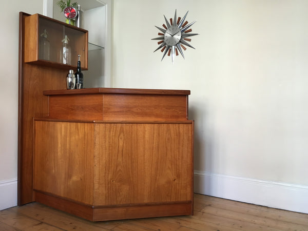 Turnidge Teak Cocktail Bar Mid-Century Retro