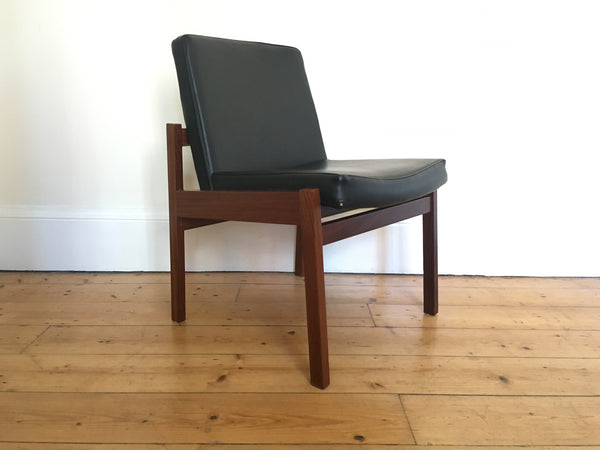 Mid-century Leather Library Chairs 1970s