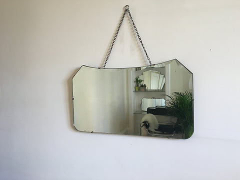 Vintage Bevelled Edge Mirror 1930s