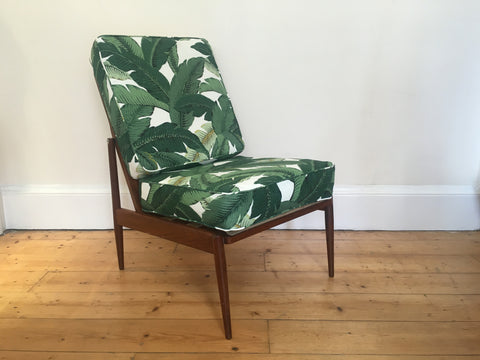 Mid Century Danish Chair Palm Print Tommy Bahamas