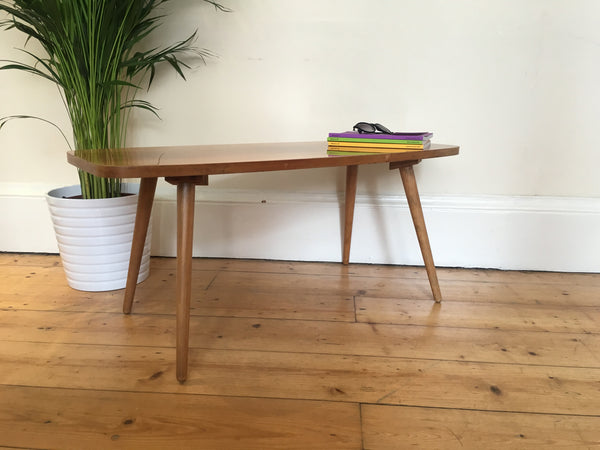 Mid Century Retro Coffee Table Splayed Legs