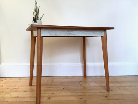 Mid Century Marble Formica Desk Breakfast Table