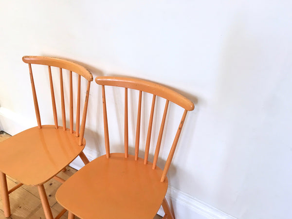 Mid Century Farstrup Yellow Dining Chairs