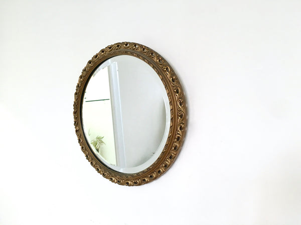 Vintage Oval Gold Frame Mirror