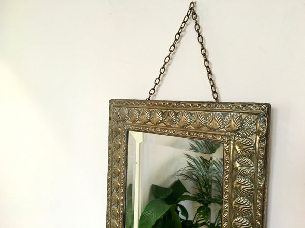 Vintage Gold Shell Frame Mirror