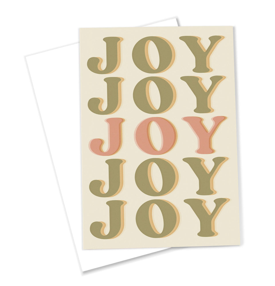 OMG Kitty 'JOY' Greeting Card Retro Inspired Typography