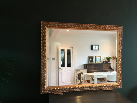 Large Vintage Gold Framed Wall Mirror