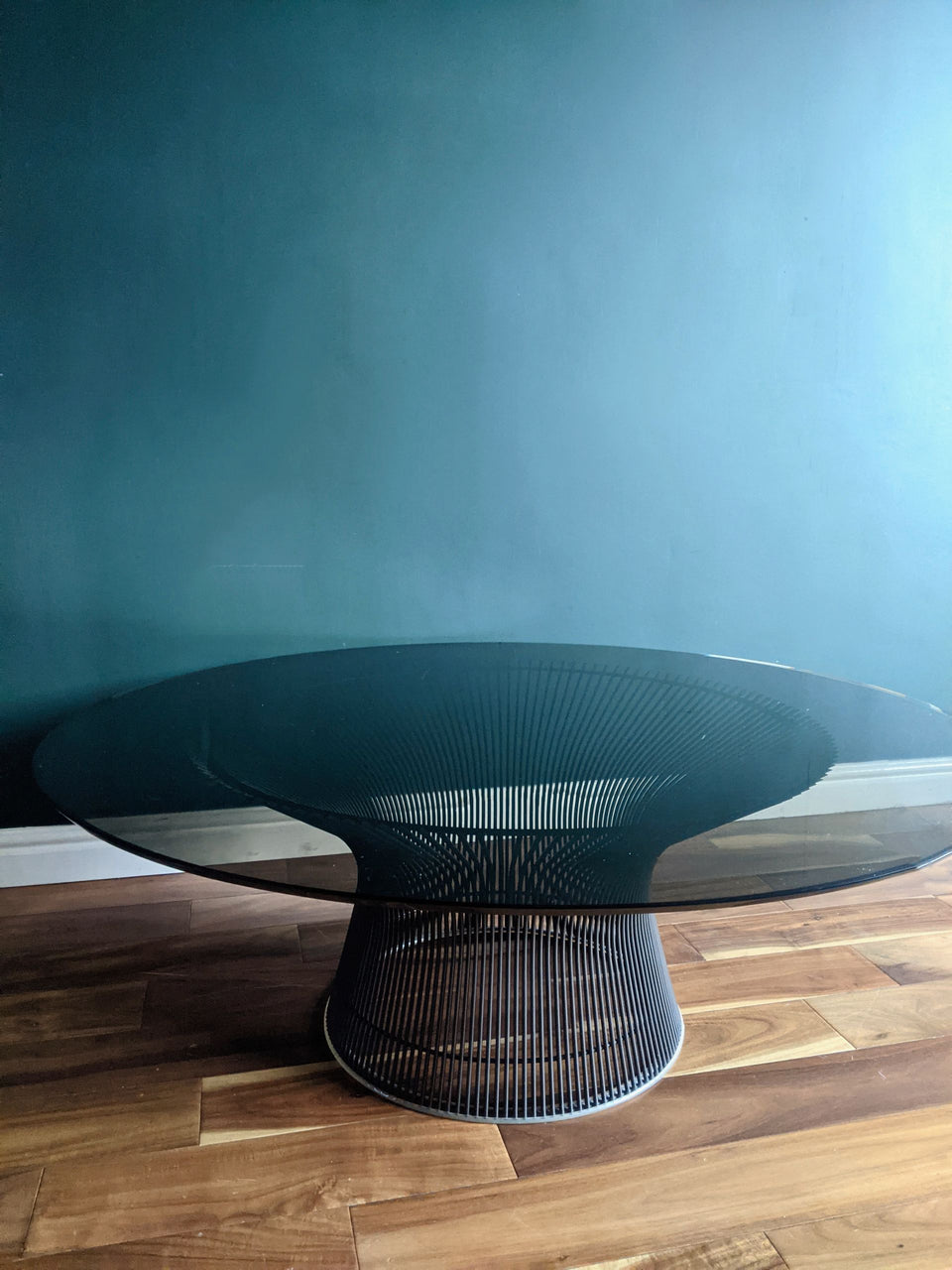 Genuine Knoll Warren Platner Smoked Glass Coffee Table
