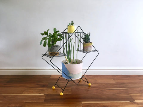 Mid Century Modern Atomic Plant Stand