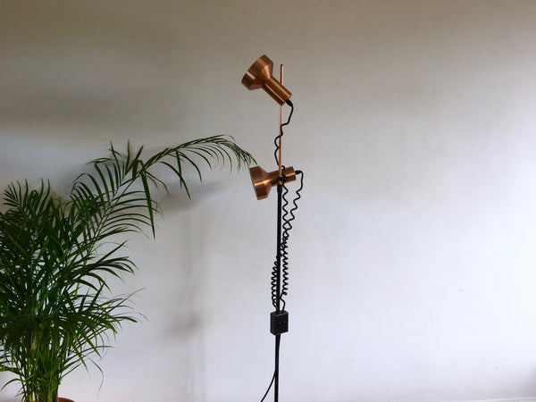 Mid Century 1970s Maclamp Super BL Floor Lamp by Conran Copper Dual Spot