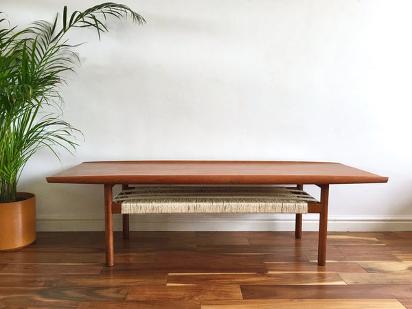 Mid Century Danish Grete Jalk Coffee Table for Glosstrup