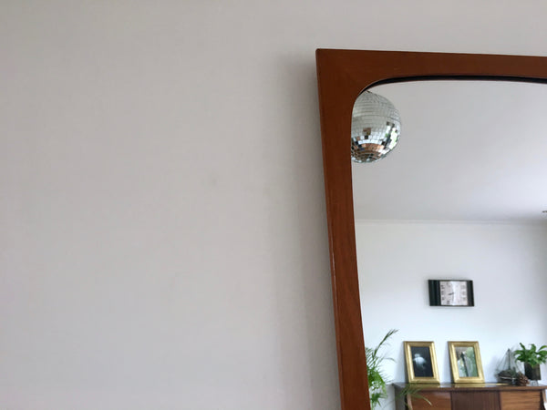 Mid Century Danish Teak Wall Mirror