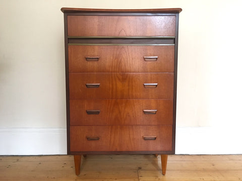 Mid Century Teak Tallboy Drawers