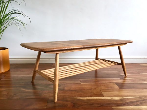 Mid Century Ercol Windsor Coffee Table Blonde