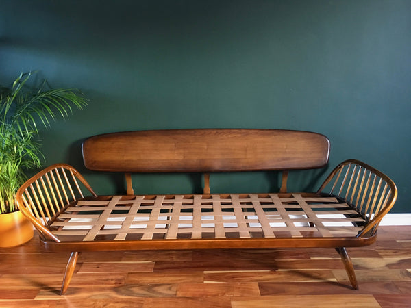 Mid Century Ercol Day Bed (Fully Reupholstered Bute Fabric)