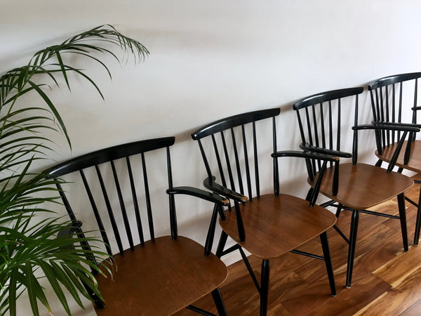Mid Century Danish Carver Chairs by Farstrup