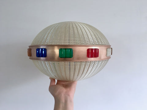 Mid Century Retro Spaceship Ceiling Light