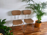 Mid Century Industrial French Chairs by Sif