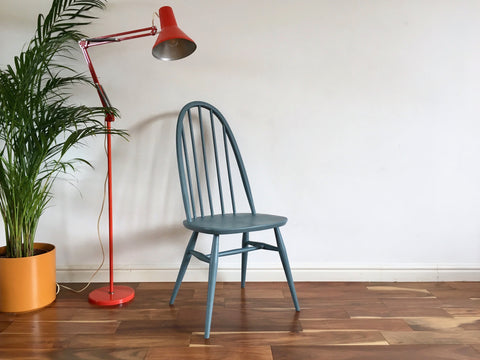 Vintage Ercol Windsor Quaker Chair in Blue