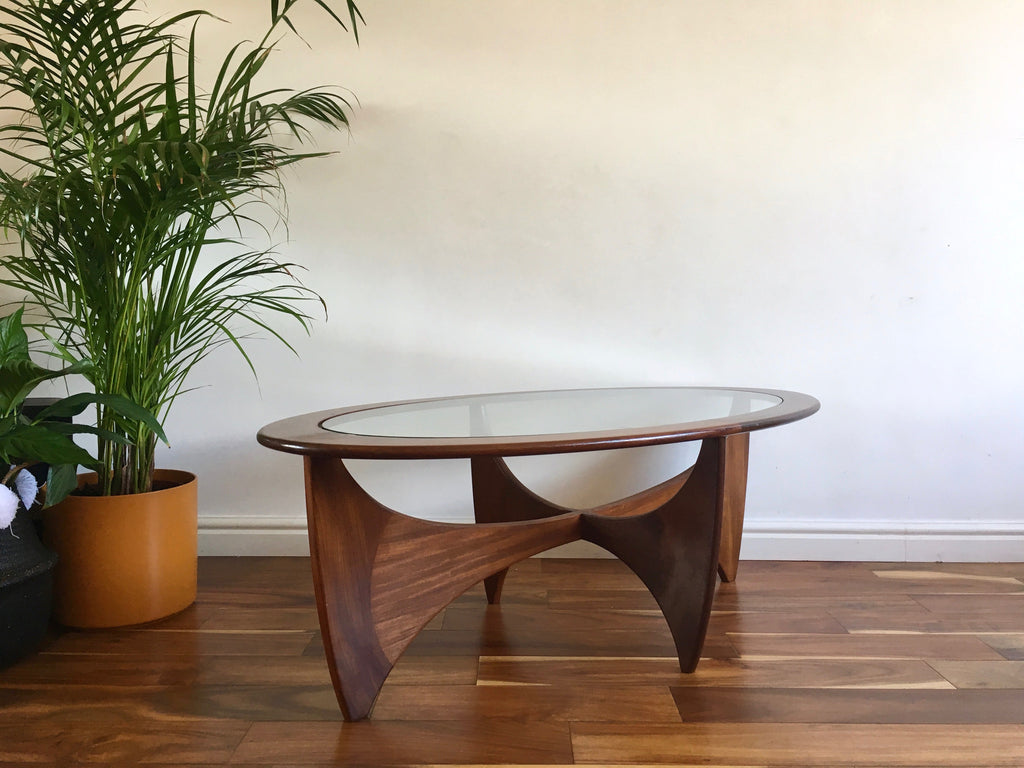 Mid century g plan astro oval coffee table vintage retro habiib mid century g plan oval coffee table teak and glass geotapseo Choice Image