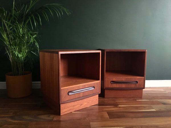 Mid Century G Plan Fresco Teak Bedside Tables Vintage Retro
